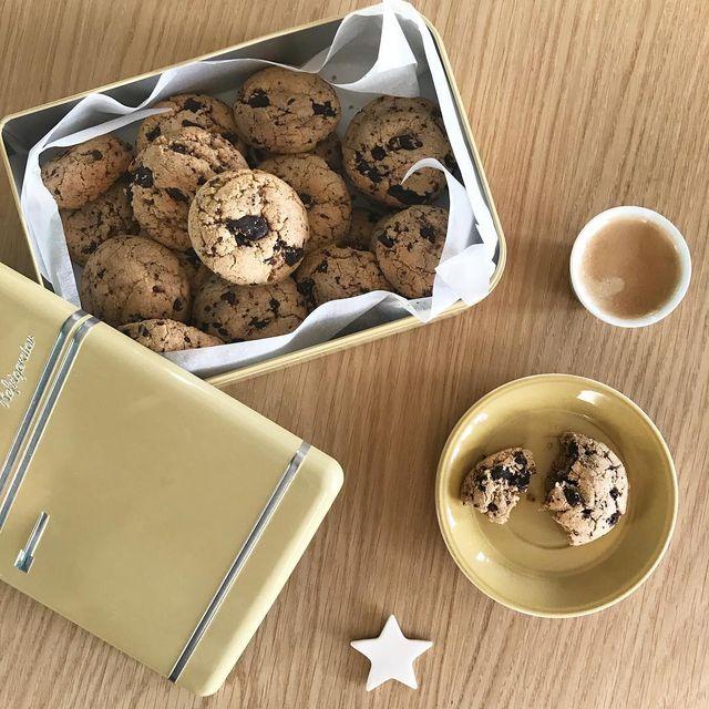image: Le goûter parfait ??? cookies #peanutbutter by my @benlabat ! #friends #63power #cookies #mespetitespaillettes by mespetitespaillettes