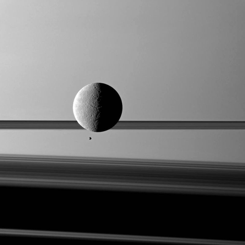 image: Moons and Rings Before Saturn by thehubblescope