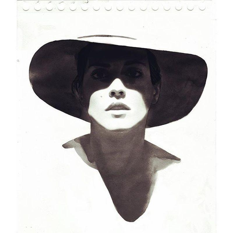 image: Hat shadow test feat. @santabarbarella by chidywayne