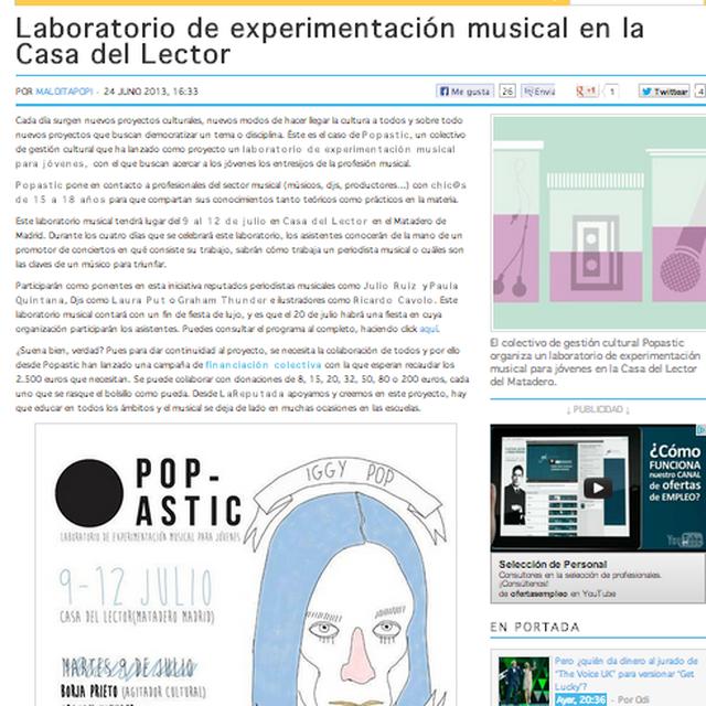 image: Artículo en La Reputada by popastic