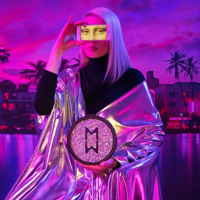 """image: Neon Mona Lisa with a digital gaze and a photoshopped consciousness.From """"PINK NOISE"""" a collaborative series with my friend and one of my favorite artists @signepierce for @marzook_official FW18...@plastikstudios...#elirezkallahxsignepierceform by elirezkallah"""