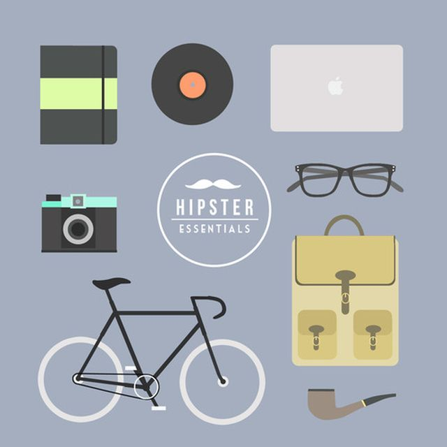 image: Hipsters essentials by ckelyknickknack