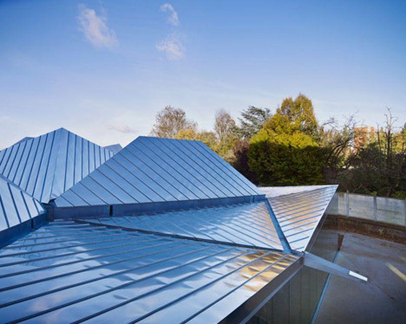 image: Metallic polygonal roof tops La Madeleine library by... by waryamaranth