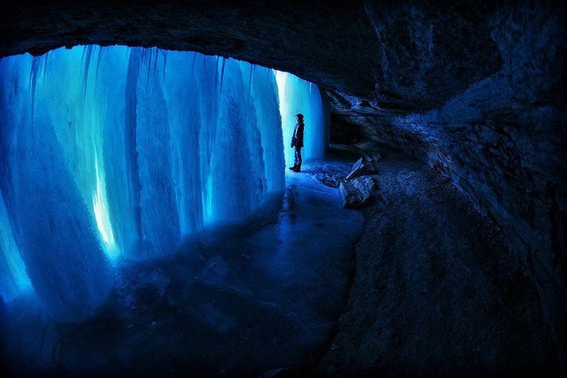image: Frozen Minnehaha Falls in Minnesota, USA by dr-drake