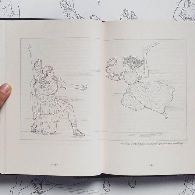 image: Ilustración de doble página para 'El reino de Eneas', de la Colección Mitología, editorial @rbagrupo Cada libro consta de 10 ilustraciones que acompañan el texto, historias fascinantes protagonizadas por dioses y héroes de la mitología clásica. ? #ilustr by elisaancori