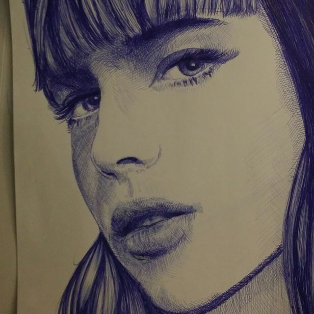 image: bic pen sketch by alvodofficial