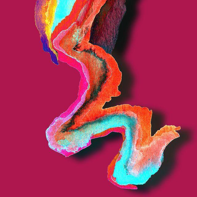 image: • Hyper Stones • Watercolor Based Series. #mixedmedia by black_nagini