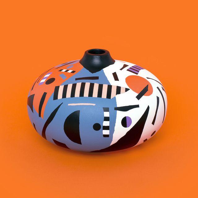 image: Abstract vase num.6 - #handpainted #uniquepiece #mireiaysuscosas--#cocolia #cocoliastudio #barcelona #prototypes #mireiaruiz #wood #colormadefrombarcelona ?On sale ? shop.cocolia.cat by mireiaysuscosas