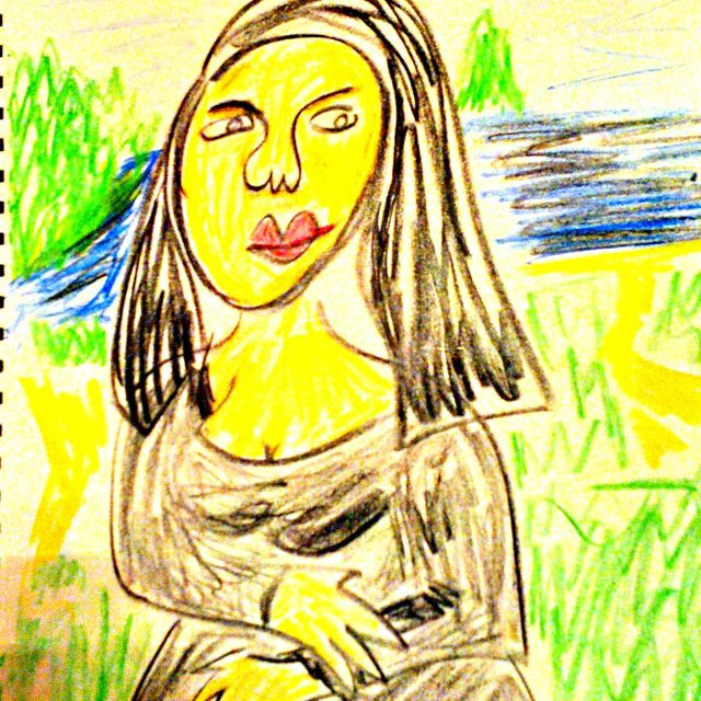 image: GIOCONDA (crayon style) by israearl