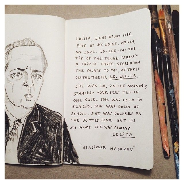 image: Just a piece of Nabokov #nabokov #lolita #drawing #a... by little_isdrawing