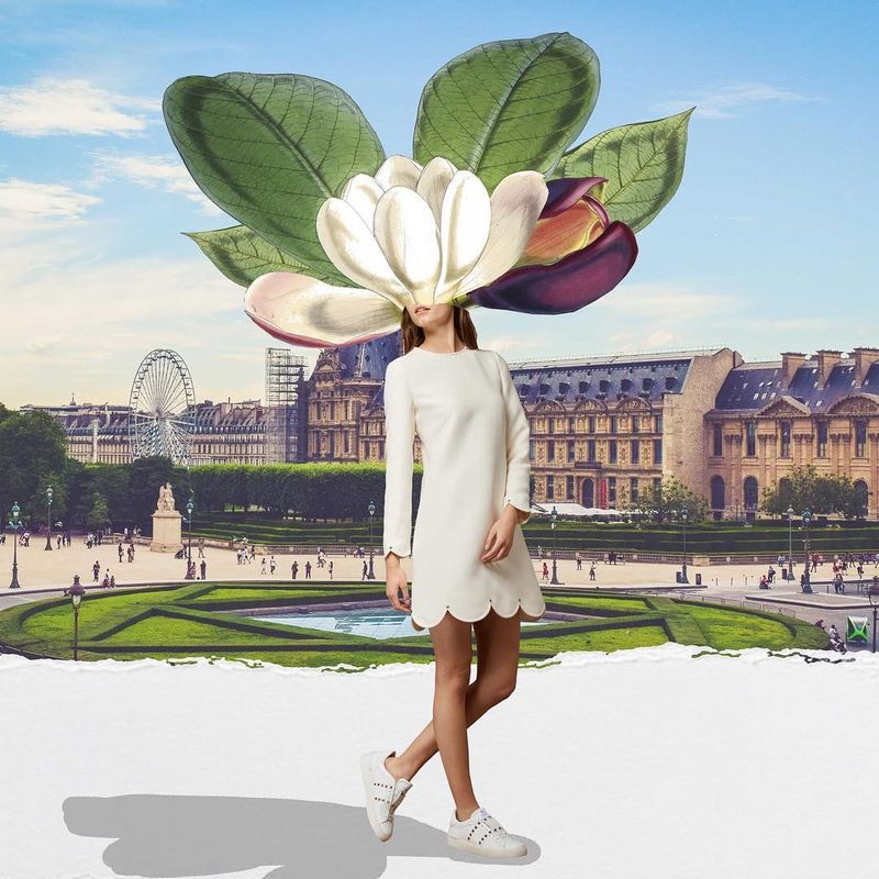 image: Spring in Paris / Commissioned collage for @24sevres #collageart #collage_guild  #minimalistart #fashionist #collagecollectiveco #taidekollaasi  #riikkafransila  #surrealart #d_expo #surreal #contemporarycollage #fashionart #fashion #vintageart #24SevresW by vintageart_originals