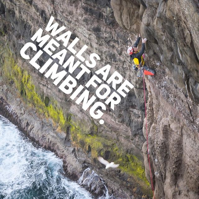 image: Today is the beginning the @thenorthface #WallsAreMeantForClimbing campaign.  Some people build walls, some people climb them...and...TNF is doing both, by donating $1 million to the Trust for Public Land to help build public climbing walls in U.S.... by cedarwright