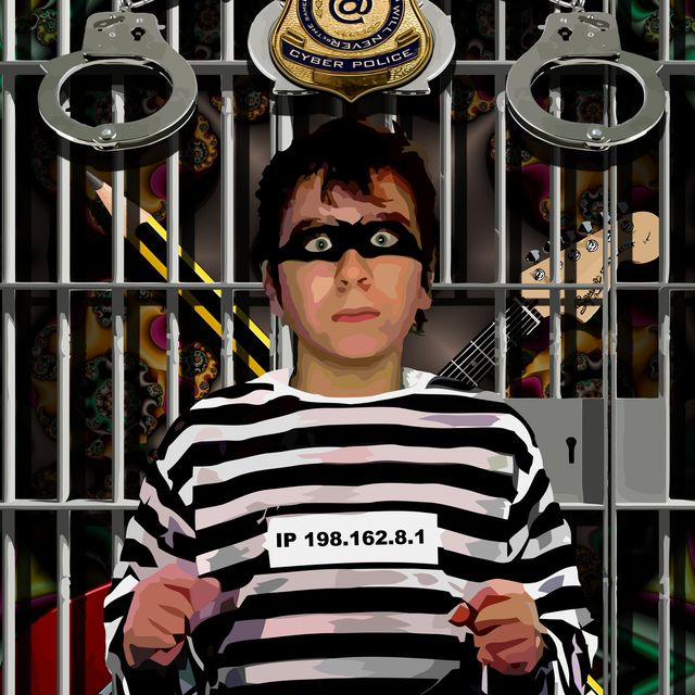 image: The delinquent of illegal downloading by ivankorsario