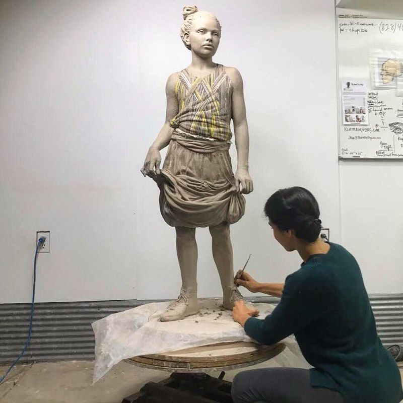image: Upcoming exhibition opening February 2 @alfredceramicartmuseum. So many moving parts! Seguimos! ✨#rickiemayday by cristinacordovastudio