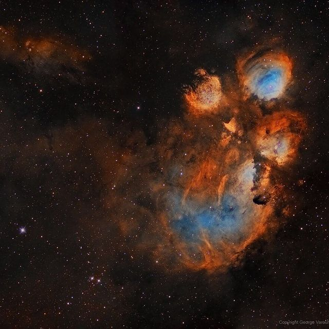 image: Nebulas are perhaps as famous for being identified with familiar shapes as perhaps cats are for getting into trouble. Still, no known cat could have created the vast Cat's Paw Nebula visible in Scorpius. At 5,500 light years distant, Cat's Paw is an... by astronomypicturesdaily