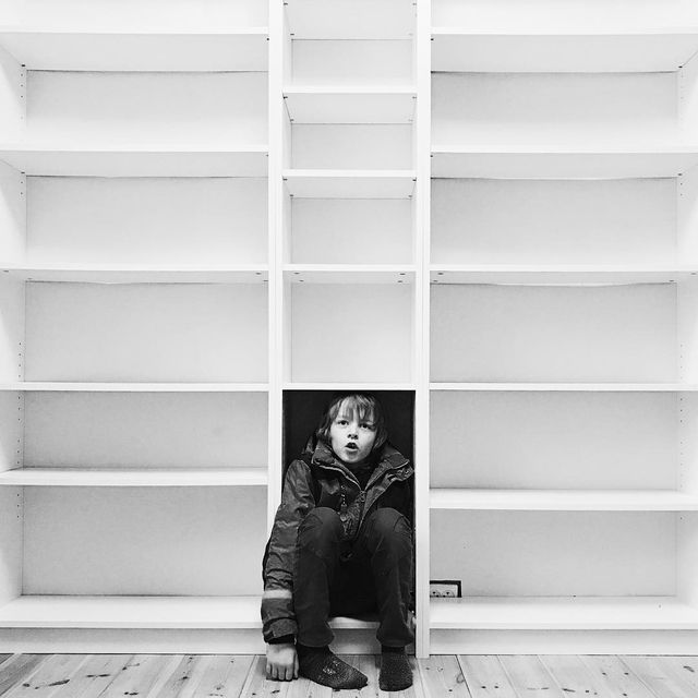 image: Me, my shelf and I. by janove