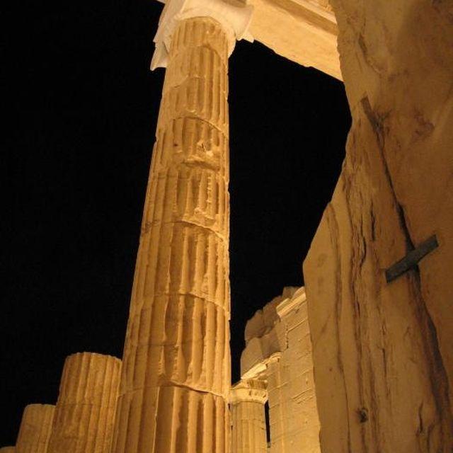 image: parthenon column - athens by karl