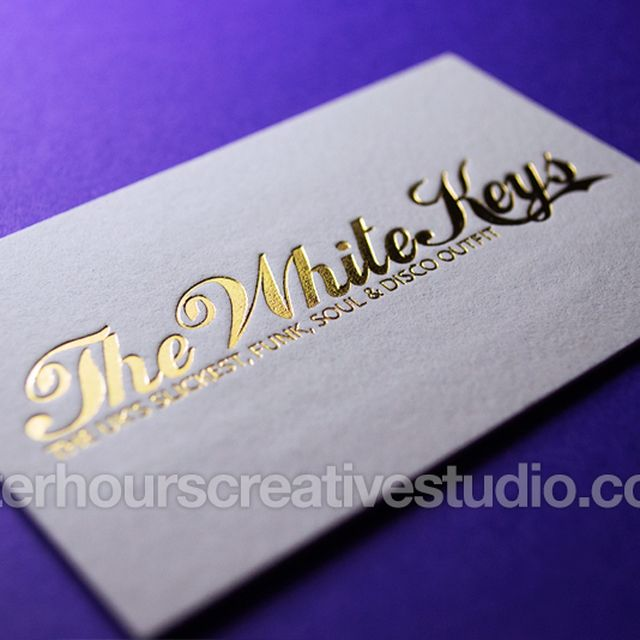 image: Gold Foil Business Card by hourscreative