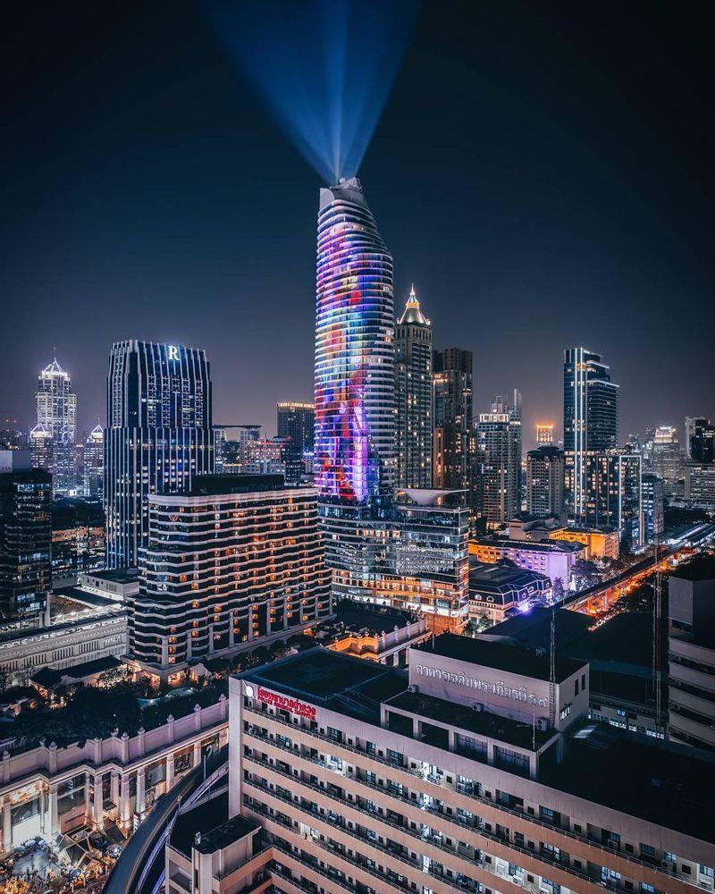 image: The concrete jungle of Bangkok city.  by kankankavee