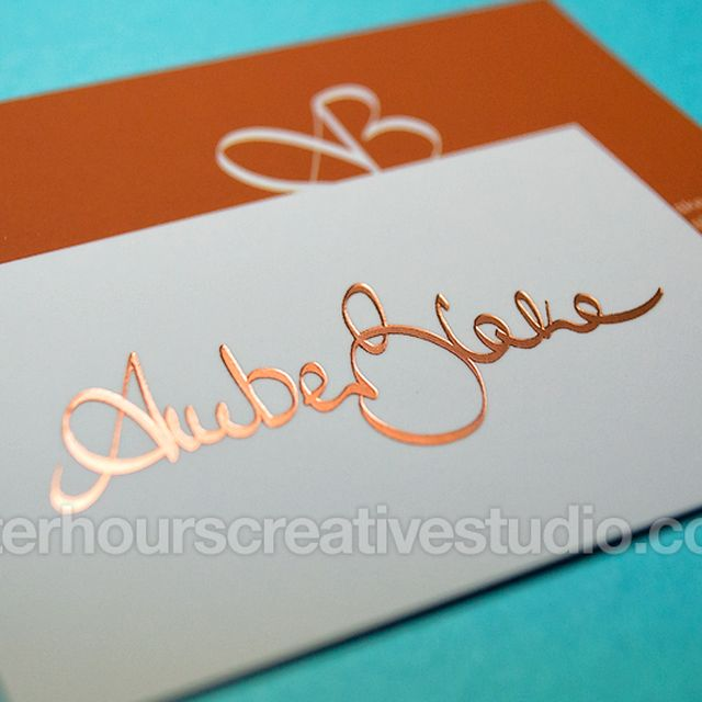 image: Cheap Gold Foil Business Cards by hourscreative
