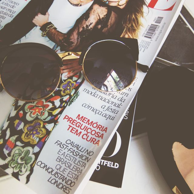 image: More of round sunglasses, flats and fashion magazines by joy