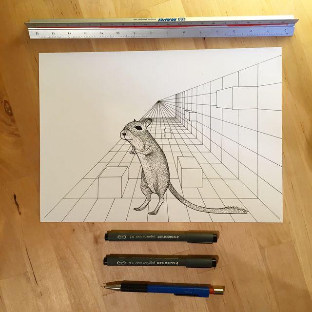 image: Rata a la fuga by vektorama